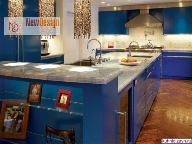 Дизайн синей кухни - фото 16