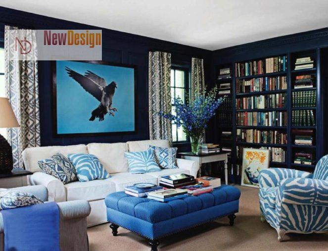 Психологическое воздействие синего цвета в интерьере - фото 1;