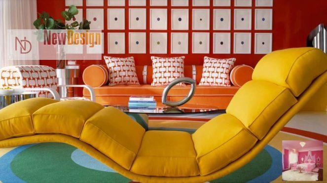 Сочетание красного и желтого цветов в интерьере - фото 10