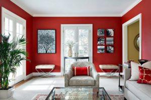 Красный цвет в интерьере - фото 25