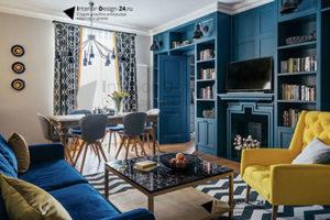 Синий цвет в интерьере - фото 30