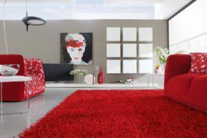 Красный цвет в интерьере - фото 19