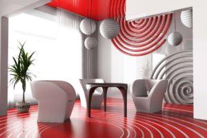 Красный цвет в интерьере - фото 27