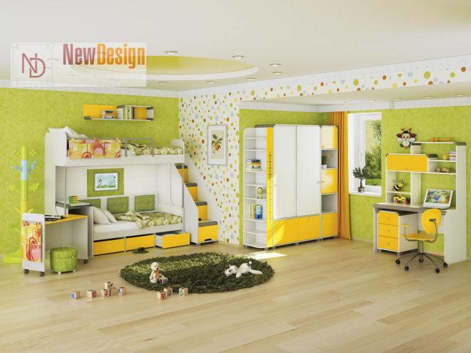 Дизайн детской комнаты в желтых тонах - фото 16