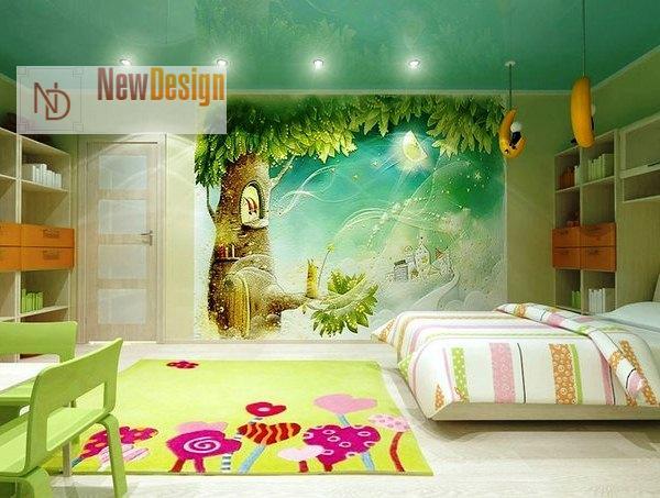 Дизайн детской комнаты в зеленых тонах - фото 16