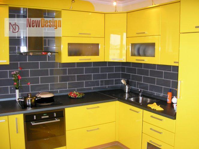 Дизайн желтой кухни - фото 10