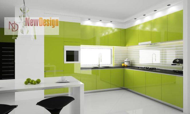 Дизайн зеленой кухни - фото 10