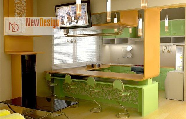 Дизайн зеленой кухни - фото 11