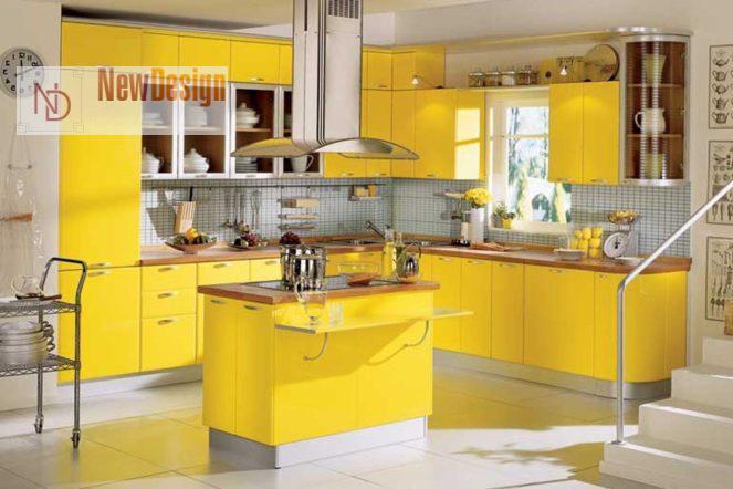 Дизайн кухни желтого цвета - фото 11