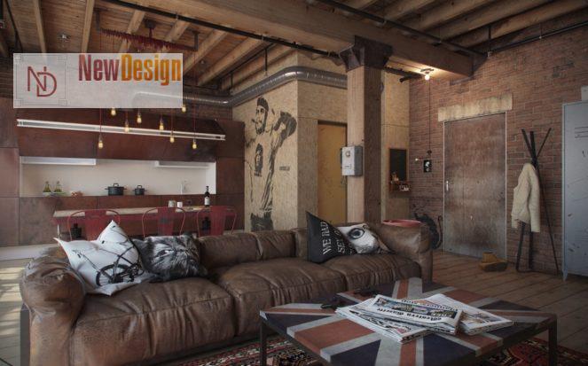 Индустриальный стиль в интерьере - фото 8
