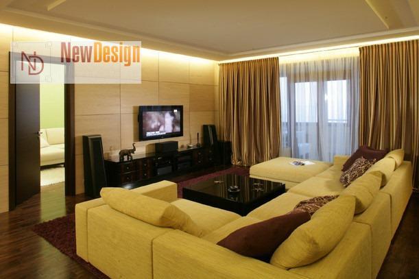 Интерьер гостиной в желтом цвете - фото 15