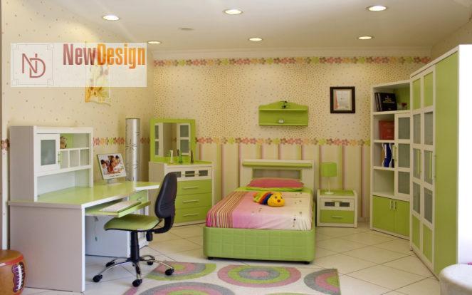 Интерьер детской в зеленом цвете - фото 17;