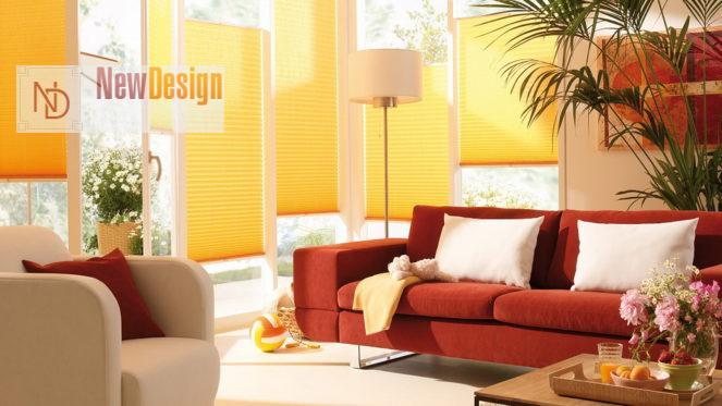 Сочетание желтого и красного цветов в интерьере - фото 9