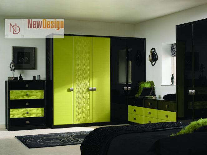 Сочетание зеленого и черного цветов в интерьере - фото 5