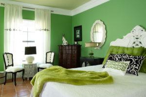 зеленый цвет в интерьере - фото 18