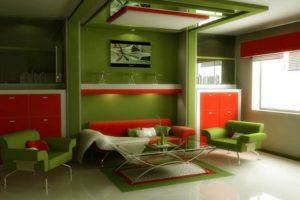 зеленый цвет в интерьере - фото 20