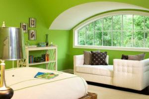 зеленый цвет в интерьере - фото 23