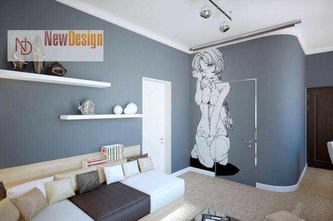 Дизайн детской комнаты в серых тонах - фото 19