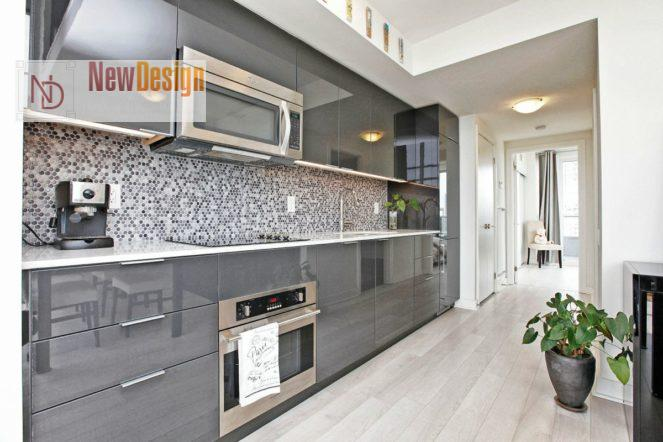 Дизайн кухни серого цвета - фото 14