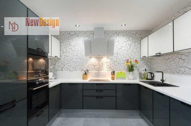 Дизайн серой кухни - фото 13
