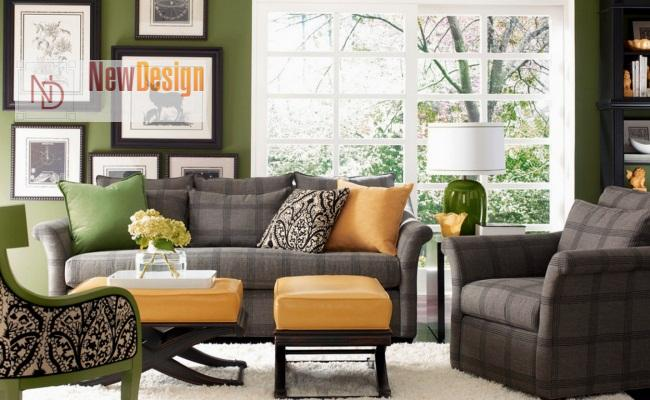 Сочетание серого и зеленого цветов в интерьере - фото 11