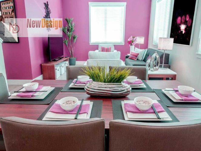 Сочетание серого и розового цветов в интерьере - фото 4