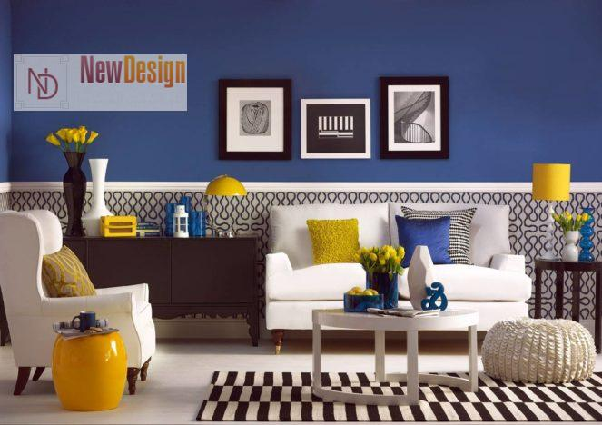 Сочетание серого и синего цветов в интерьере - фото 6