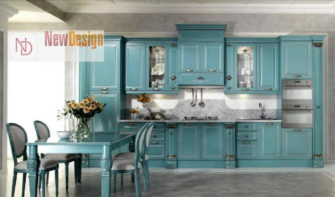 Дизайн голубой кухни - фото 10;