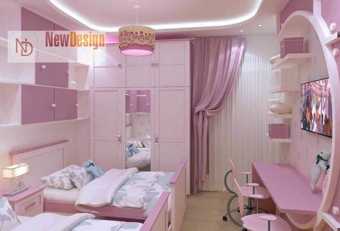 Дизайн детской комнаты в сиреневых тонах - фото 20