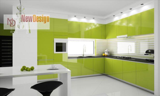 Дизайн кухни оливкового цвета - фото 13
