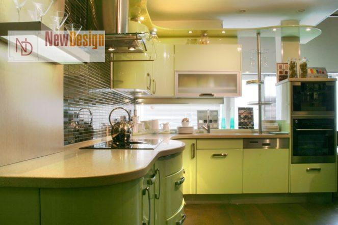 Дизайн оливковой кухни - фото 12;