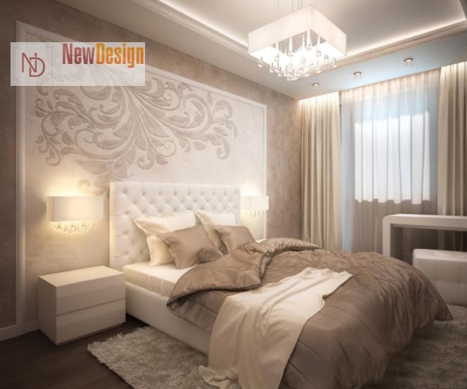 Дизайн спальни в бежевых тонах - фото 11