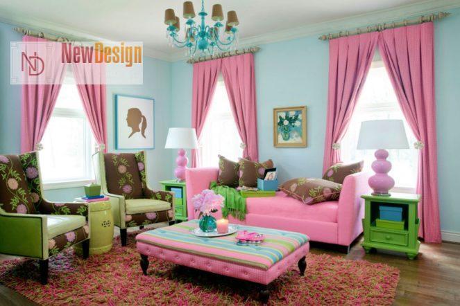 Сочетание бирюзового и розового цветов в интерьере - фото 5
