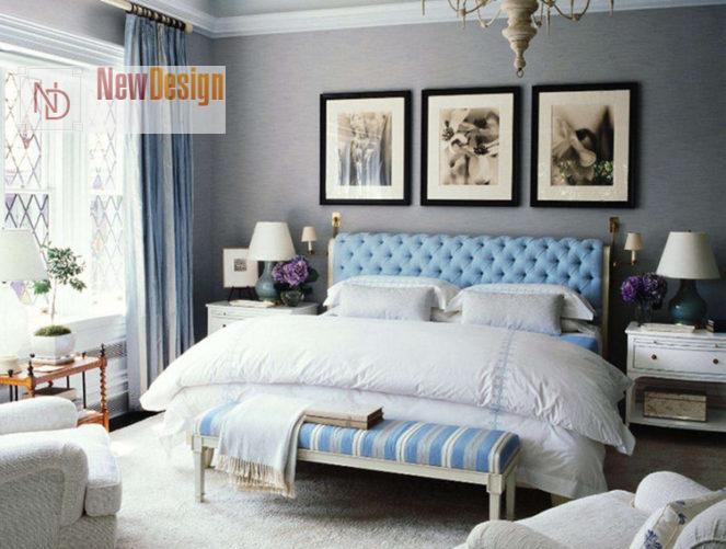 Сочетание голубого и серого цветов в интерьере - фото 5