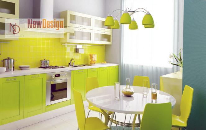 Сочетание оливкового и желтого цветов в интерьере - фото 7