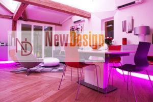 фиолетовый цвет в интерьере - фото 28