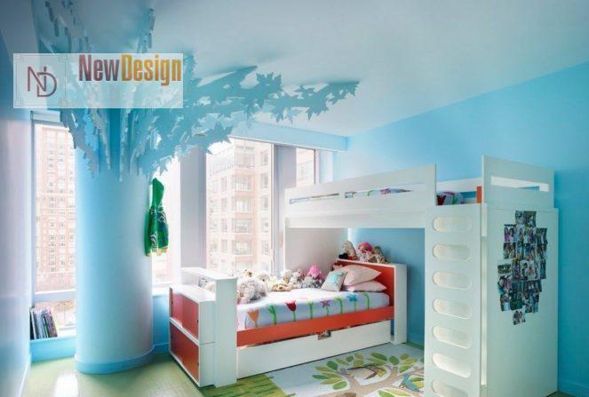 Дизайн детской комнаты в бирюзовых тонах - фото 18