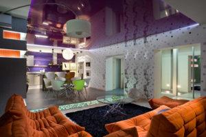 фиолетовый цвет в интерьере - фото 25
