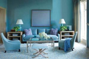 бирюзовый цвет в интерьере - фото 28