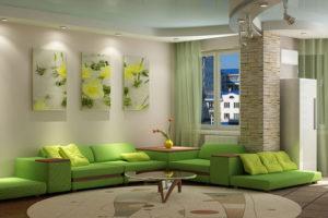 оливковый цвет в интерьере - фото 21