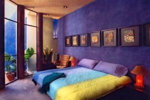 фиолетовый цвет в интерьере - фото 27