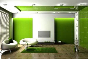 оливковый цвет в интерьере - фото 20
