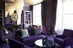 фиолетовый цвет в интерьере - фото 24
