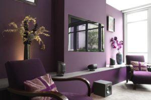 фиолетовый цвет в интерьере - фото 22