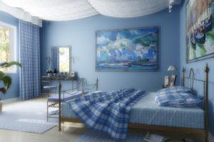 голубой цвет в интерьере - фото 25
