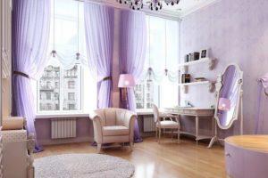 фиолетовый цвет в интерьере - фото 21