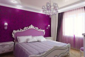фиолетовый цвет в интерьере - фото 20