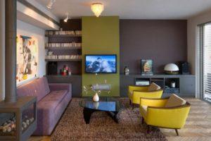 оливковый цвет в интерьере - фото 25