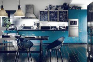 голубой цвет в интерьере - фото 27