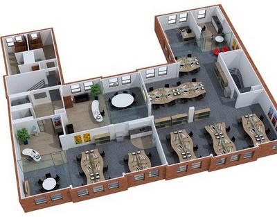 Планировка и дизайн интерьера офиса